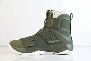 Nike Lebron Soldier 10 X SFG Lux Suede Cargo Khaki Green 911306-330 Size 8