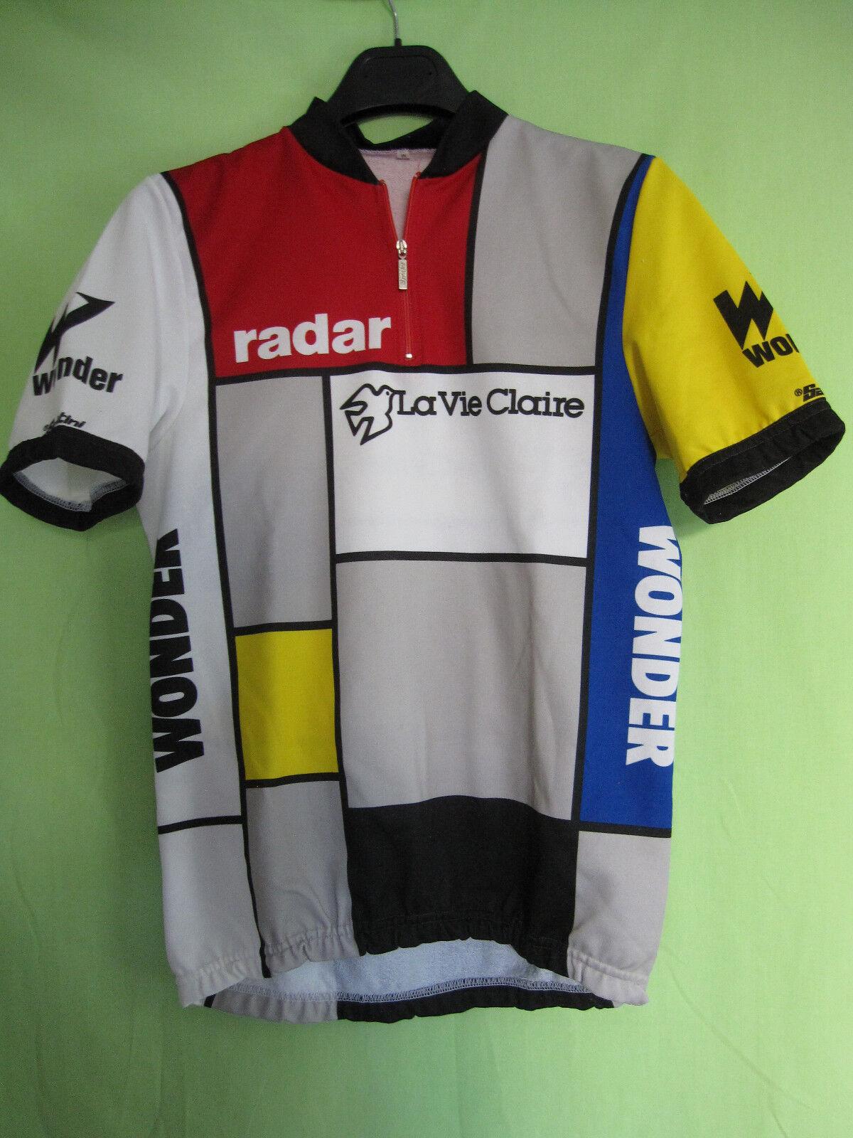 Maillot Cycliste Radar La Vie Claire vintage vintage vintage jersey shirt 80'S HINAULT - M 5232c8