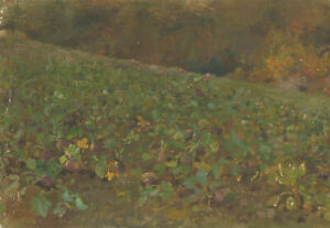 Alfred-William-Strutt-1856-1924-Late-19th-Century-Oil-The-Vegetable-Patch