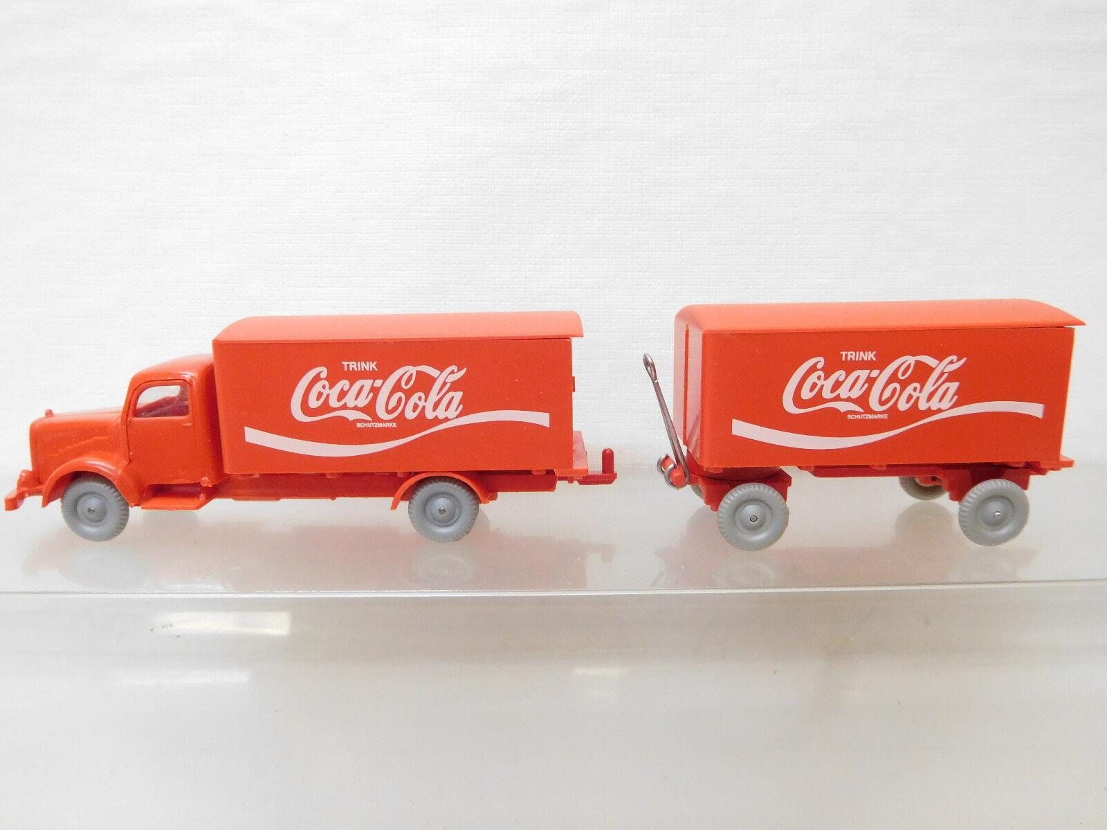 Eso-5067 IMU 1 1 1 87 Mercedes LKW Coca Cola sehr guter Zustand,Führerhaus red, 1f5366