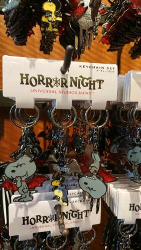 USJ official limited edition 2018 Horror Night Peanuts Snoopy key chain 3P F//S