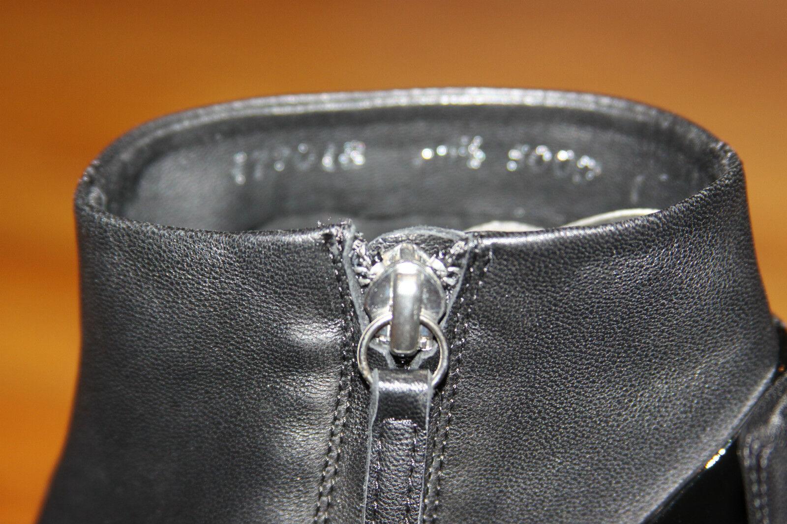 GIUSEPPE GIUSEPPE GIUSEPPE ZANOTTI BALCK LEATHER ANKLE Stiefel Größe 36.5 db777b