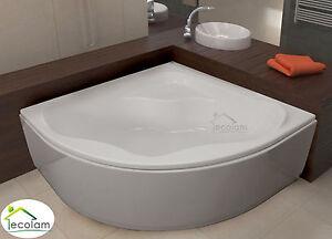 badewanne eckbadewanne 140x140 150x150 sch rze ablauf symmetrisch acryl sam ebay. Black Bedroom Furniture Sets. Home Design Ideas