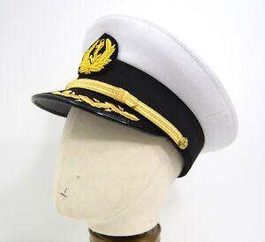 US-Military-Navy-Peak-Cap-Badge-Navel-Officers-WW2-Military-Dress-Uniform-Hat
