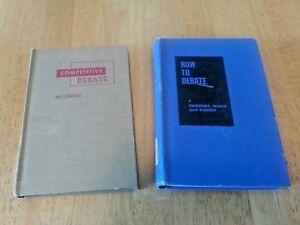 2-Vintage-Hardcover-Debate-Books-Competitive-Debate-1957-How-to-Debate-1954