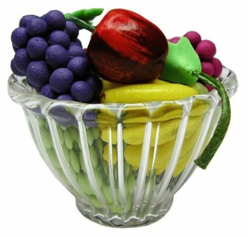 1:12 Scale Dollhouse Miniature Fruit in a Ribbed Bowl