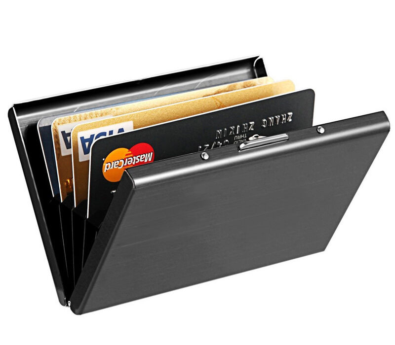 Stainless Steel RFID Blocking Credit Card ID Holder