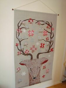 Pottery Barn Kids Christmas Painted Reindeer Face Advent