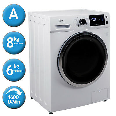 Waschtrockner Trockner Waschmaschine Frontlader Midea WT7.86i EEK:A 8kg/6kg LED