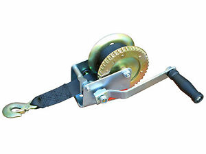 MARINE TRAILER CRANK HAND WINCH FOR BOATS 1000 lbs WITH STRAP MANUAL-FIVE OCEANS