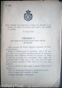 1893-695-Regio-Decreto-che-autorizza-comune-di-AMANTEA-a-dazio-su-pallini-piombo
