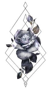 Cool Small Wrist Tattoos Rose Geometric 8 25 Amp Amp Quot Temporary Tattoo Ebay
