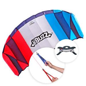 Flexifoil Power Kite 2.05m 'Big Buzz' Beach Sport Stunt Trick Adult Kids Kites