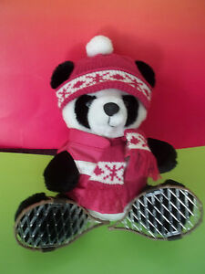 dakin polar bear plush wearing winter hat jacket snowshoes. Black Bedroom Furniture Sets. Home Design Ideas