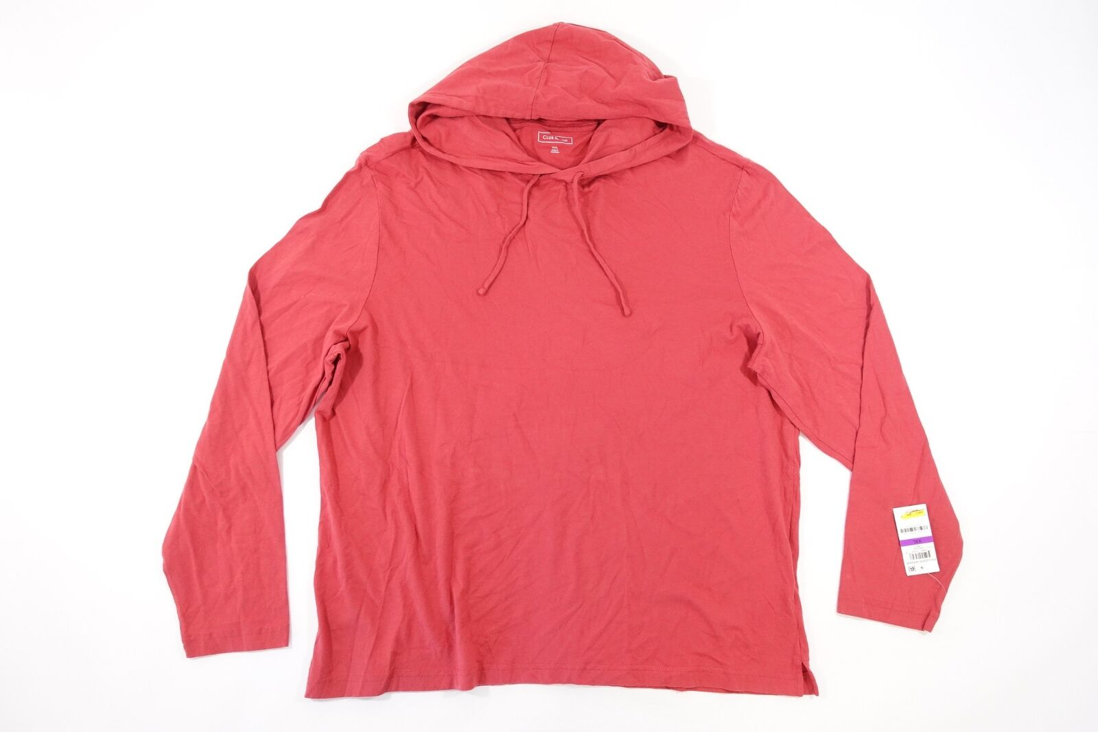 CLUB ROOM PALE RED 2XL LIGHT HOODIE SWEATER MENS NWT NEW