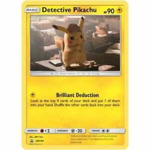 UK Seller. Pokemon Detective Pikachu 10//18 Detective Pikachu Holo Single Card