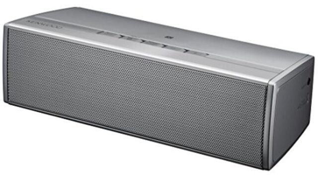 KENWOOD Bluetooth Wireless Speaker AS-BT77-S Silver F/S w/Tracking# Japan New