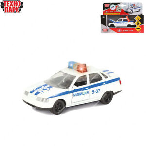 Tehnopark Diecast Vehicles Scale 1:43 Police Lada 2110 Russian Toy Cars 12 cm