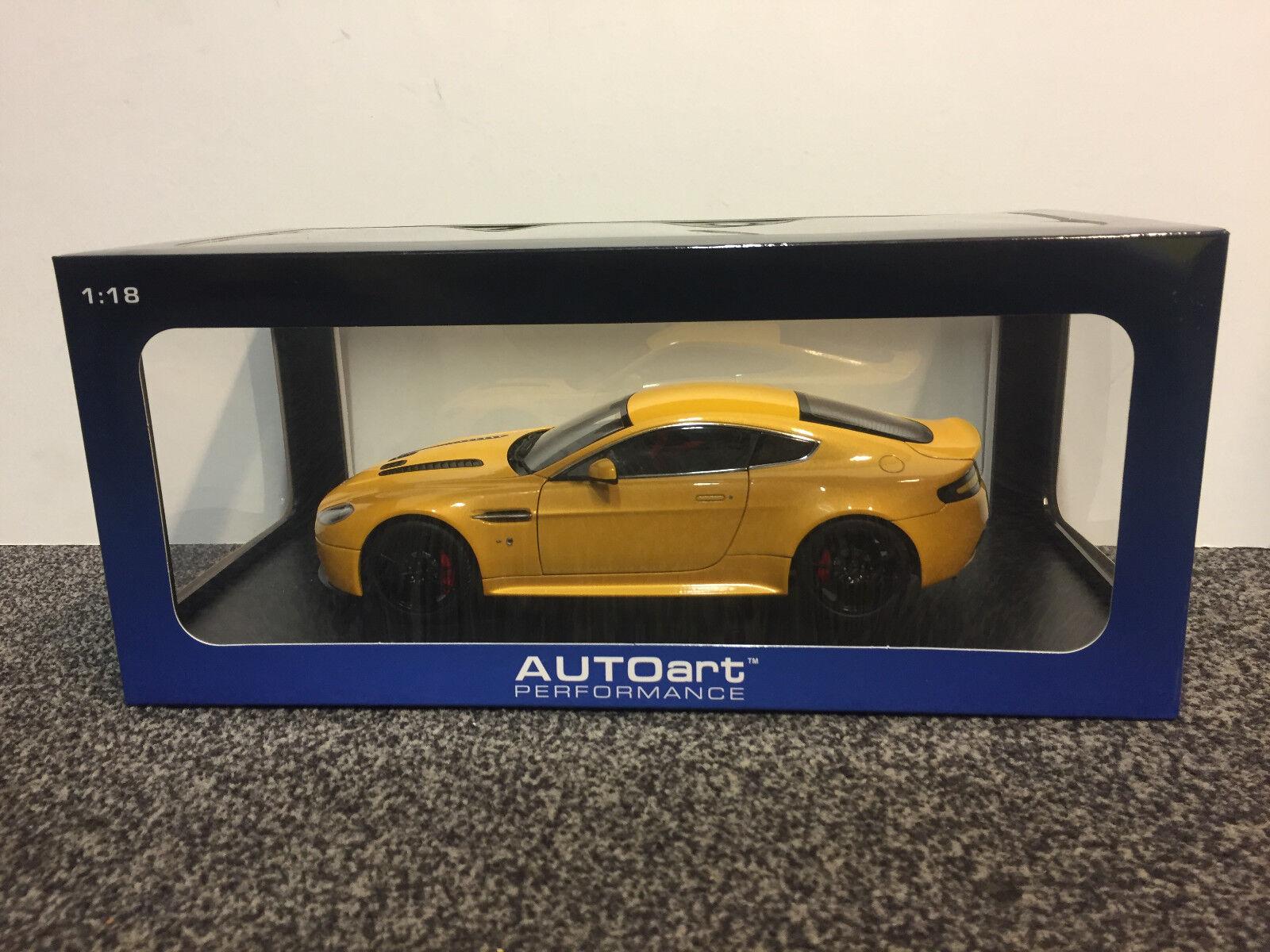 Aston Martin v12 Vantage S 2015 jaune Tang 1  18 Autoart  la meilleure offre de magasin en ligne