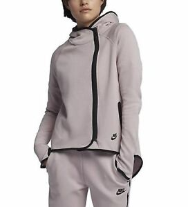 78a7650d9f Details about Nike Sportswear Tech Fleece Women's Full-Zip Cape Hoodie XS  Particle Rose Pink