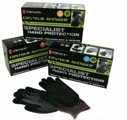 10 x Pairs of Contour Avenger Specialist Precision Work Gloves Size Large