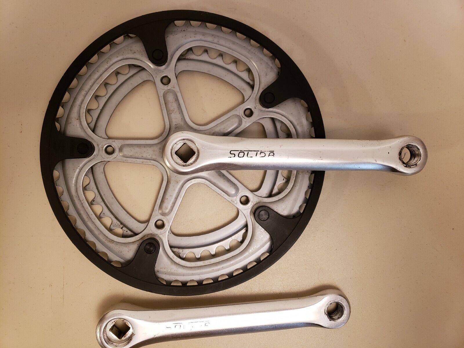 Vintage  Solida Bicycle Crankset....Double...170mm...52-42t...Road Bike..France  special offer
