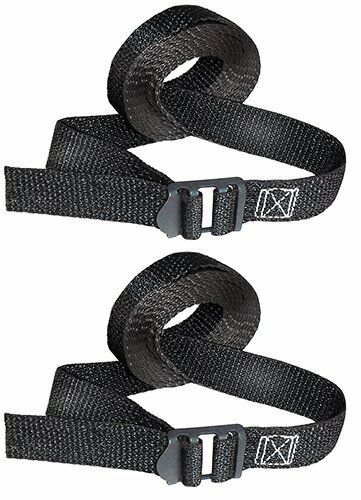 """Keeper 85207 8' x 1"""" Lashing Strap Pack of 2 Straps Secure Roof Rack Cargo"""