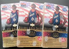 3x Upper Deck USA Gold Edition Basketball 1996-97 11-Pack Box Dream Team
