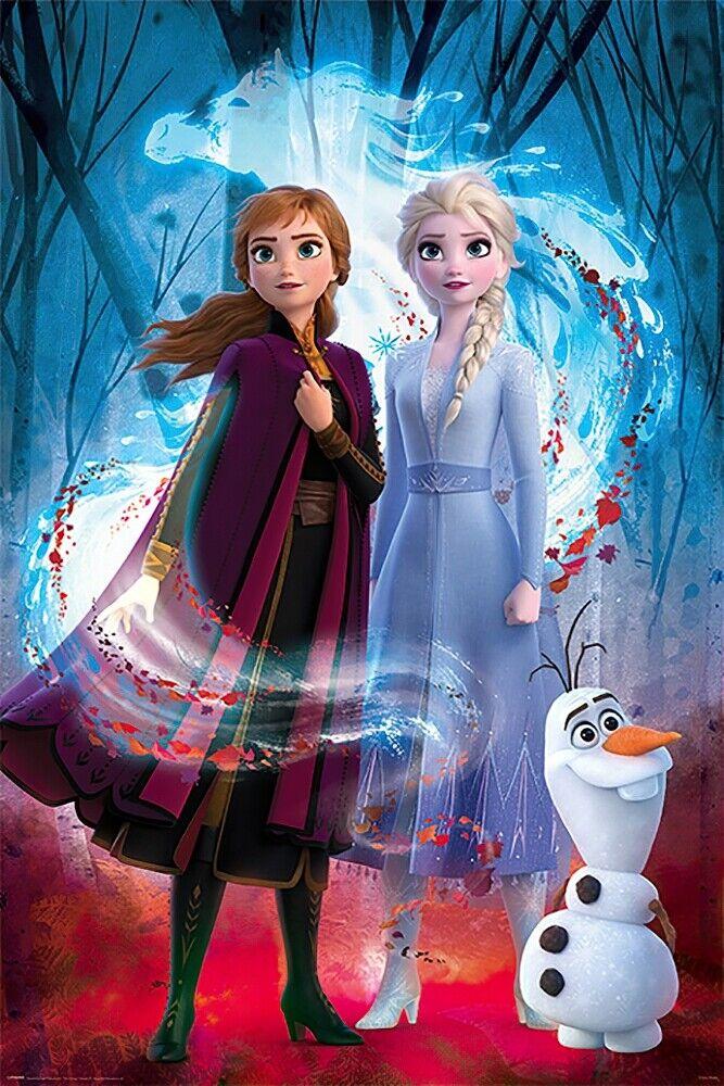 "11/"" x 17/"" Frozen 2 Movie  Collector/'s  Poster Print  DISNEY Elsa Olaf Anna"
