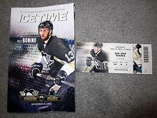 Penguins San Jose Sharks Ticket Stub 11-21-15 Patrick Marleau 1,000 Point Game +