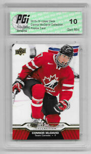 Connor-McDavid-2015-16-Upper-Deck-Collection-CM-4-Rookie-Card-PGI-10-Oilers
