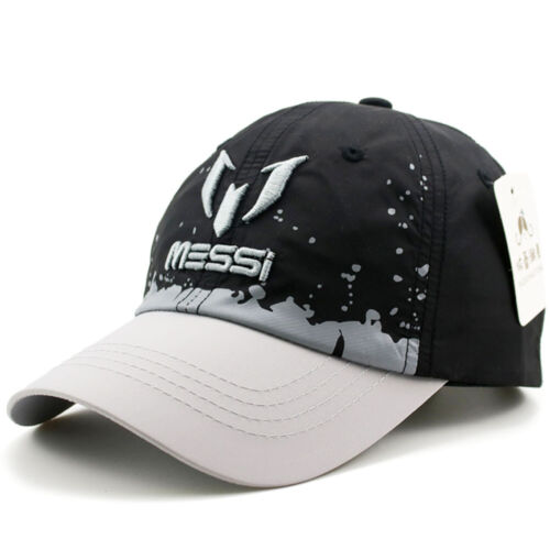 Kids Boys MESSI Embroidery Quick Dry Baseball Cap Adjustable Outdoor Sports Hat
