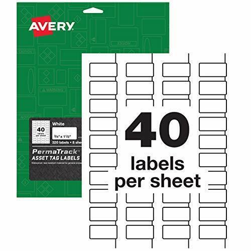 Avery Dennison AVE-61525 Label,tag,asset,wht,320pk ave61525