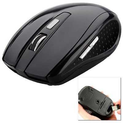 Mouse Inalambrico Ratón Wireless Negro PC 2,4 GHz Gaming 1600DPI Portatil Laptop