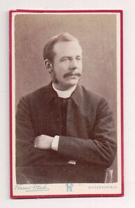 Vintage-CDV-Unknown-Man-Clergyman-Priest-Vincent-Hatch-Photo-London