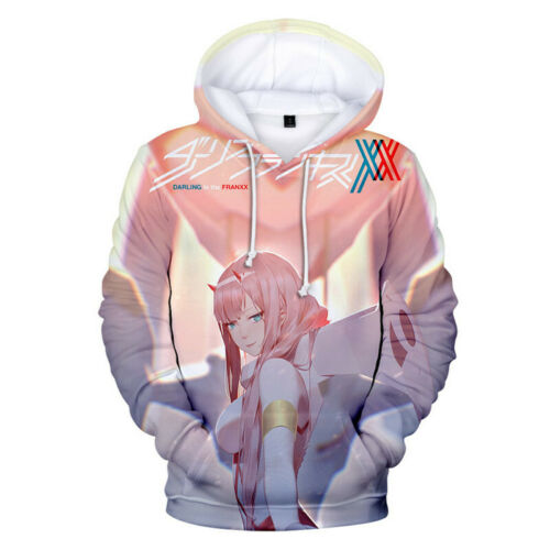 NEW DARLING in the FRANXX 3D Print Hoodie Sweater Casual Pullover Jacket Coat