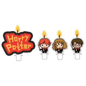 4 x Assorted Birthday Cake Candle Set Harry Potter Characters Party Decoration