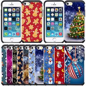 Christmas-Holiday-Design-Case-Dual-Layer-Cover-for-iPhone-5-iPhone-5S-iPhone-SE