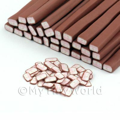 Nail Art 3x Chocolate Covered Nougat Canes 11nc49 In Short Supply