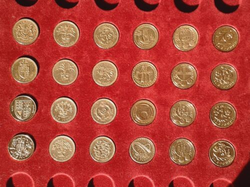 1 Coin Set of 24 All Designs Circulated