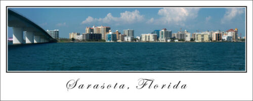 City Skyline Poster Panorama Sarasota Florida Panoramic Fine Art Print Photo