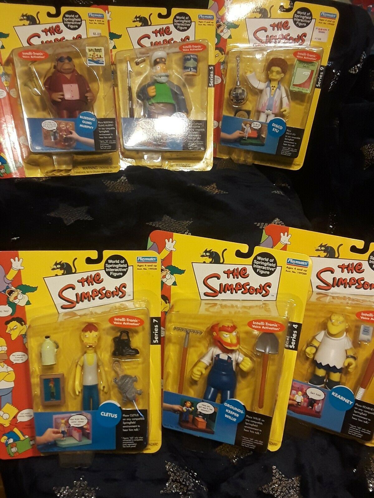 Lot Of The Simpsons World Of Of Springfield Interactive Figure Simpsons figures NEW