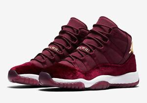 buy popular b334f aa9cb Details about Jordan Retro 11 Heiress Red Velvet Maroon Burgundy  Gradeschool GS Size 4Y