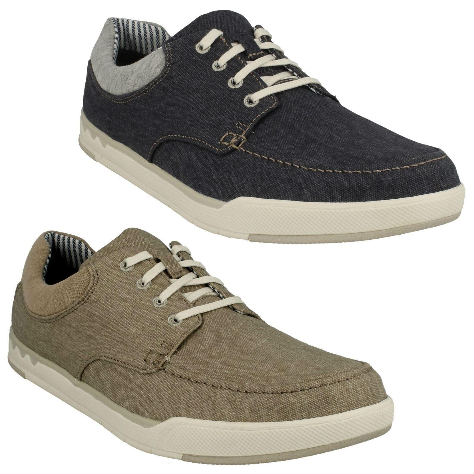 Clarks Hombre CASUAL Con Cordones número Suave Verano Lona Zapatos número Cordones PASO ISLA 771d9b