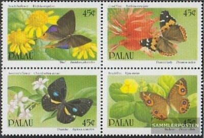 Never Hin Colours Are Striking complete.issue. Unmounted Mint Able Palau-islands 366-369 Block Of Four