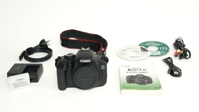 Canon EOS 600D 18MP digital SLR with built in flash, body only.