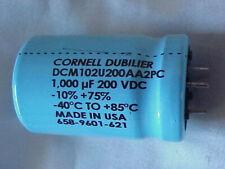 NEW NOS Cornell Dubilier DCMC184U016ED2B Capacitor 180,000uF 16VDC 658-0911-470