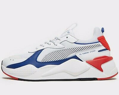 ⚫ Authentic 2020 Puma RS-X Core ® ( Men Sizes UK: 6 & 8 ) White / Blue Red  | eBay