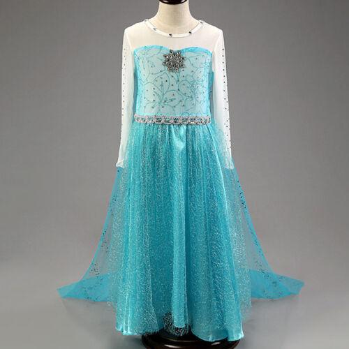 Frozen Elsa Anna Kostüm Mädchen Prinzessin Kleid Fancy Cosplay Kostüm Outfits