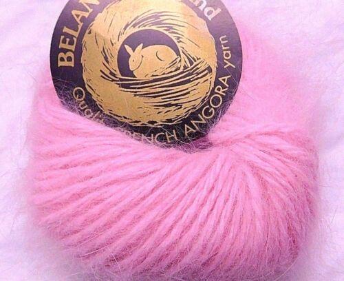 Md Pink CHERRY BLOSSOM Galler BELANGOR 100/% ANGORA Rabbit Fur X-SOFT Luxury Yarn
